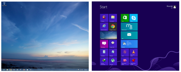 Dual Identities Windows 8